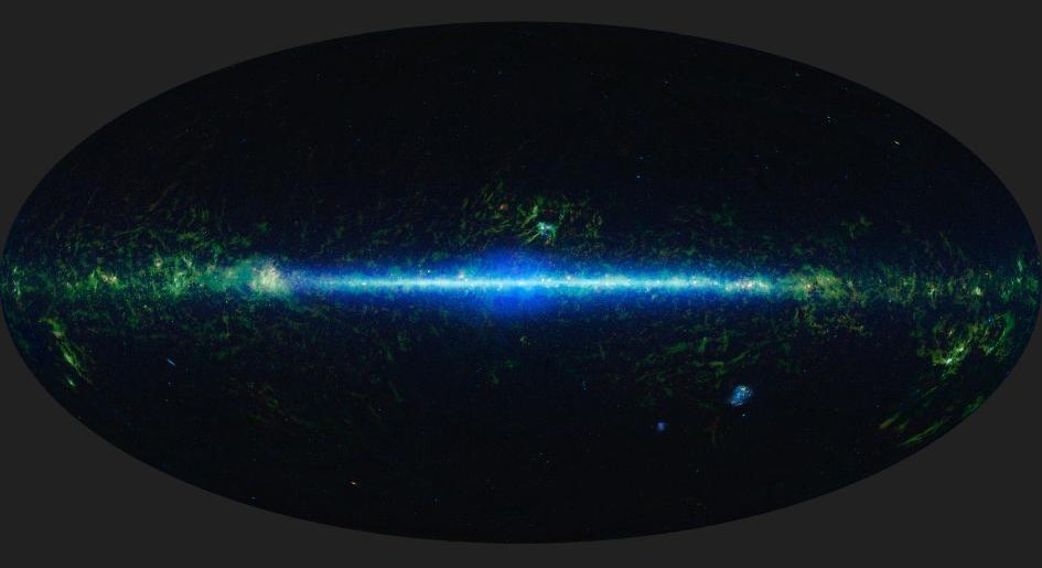 A mosaic of the images covering the entire sky as observed by the Wide-field Infrared Survey Explorer (WISE), part of its All-Sky Data Release. - Image Credit: NASA/JPL