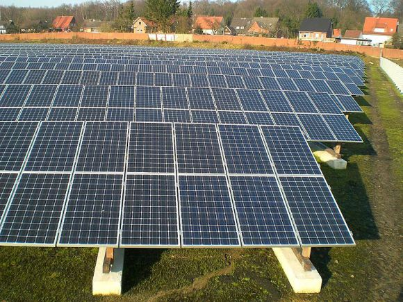Residential solar panels in Germany. - Image Credit: Wikimedia Commons/ Sideka Solartechnik