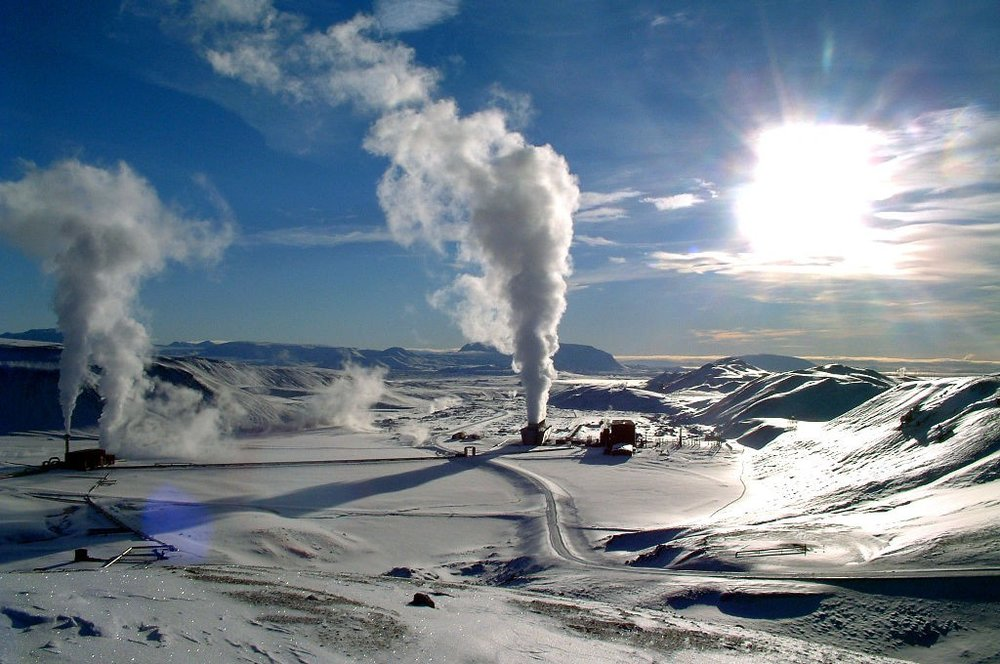 The Krafla a geothermal power station located i0n Iceland. - Image Credit: Wikipedia Commons/Ásgeir Eggertsson