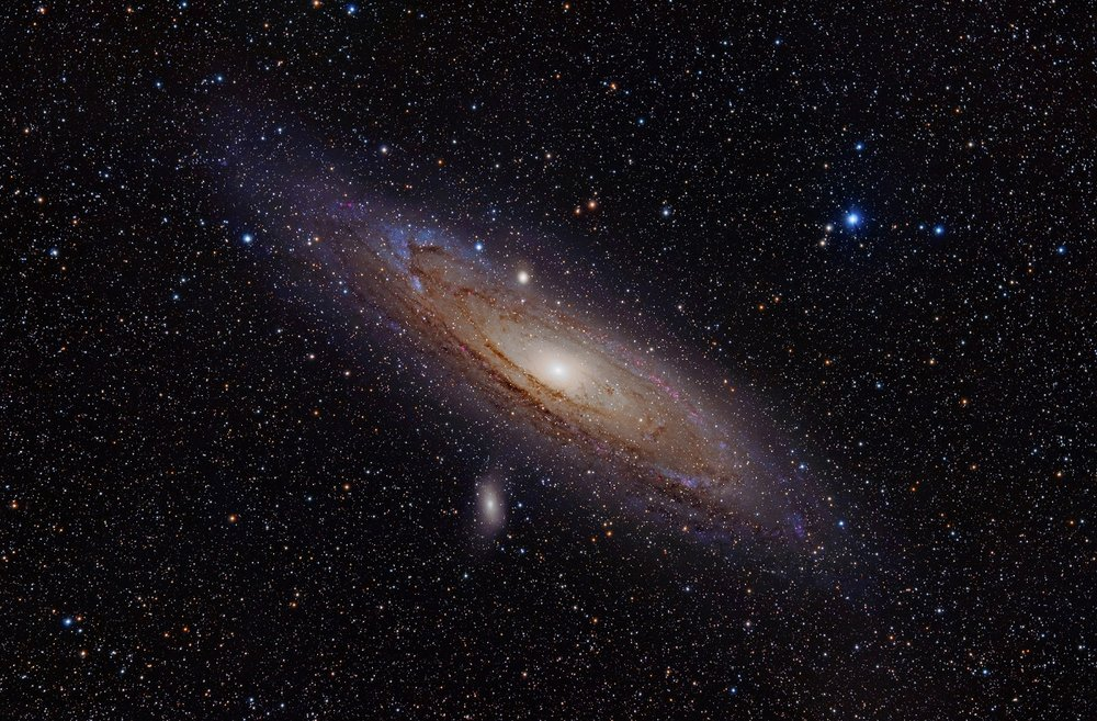 The Andromeda Galaxy is a spiral galaxy approximately 2.5 million light-years away in the constellation Andromeda. - Image Credit: Wikipedia Commons/Adam Evans