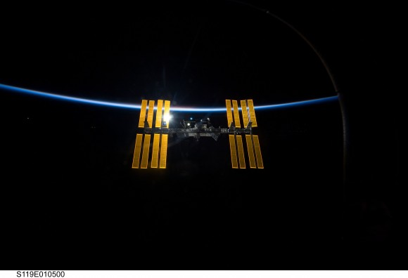 The International Space Station orbiting Earth. - Image Credit: NASA