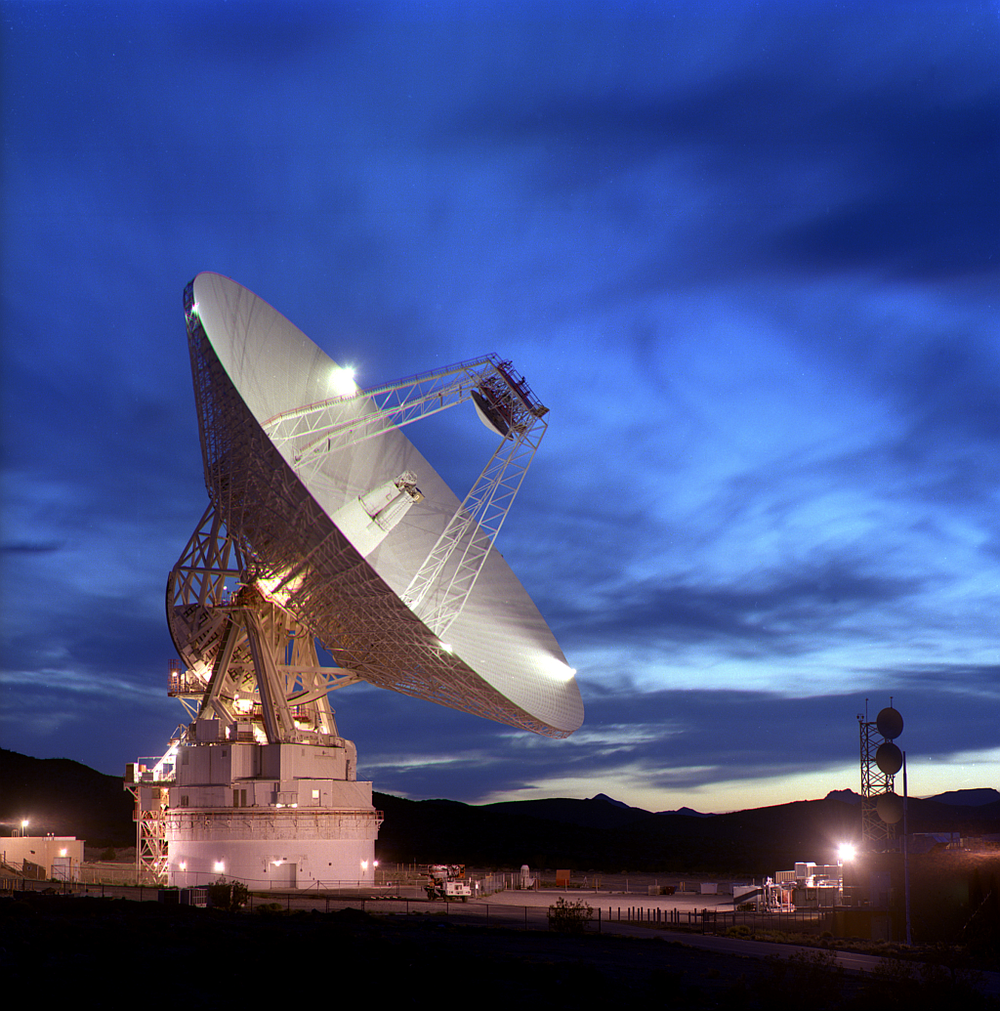 NASA's Deep Space Network is responsible for communicating with spacecraft. Pictured is the Goldstone facility in California, one of three facilities that make up the Network. - Image Credit: NASA/JPL