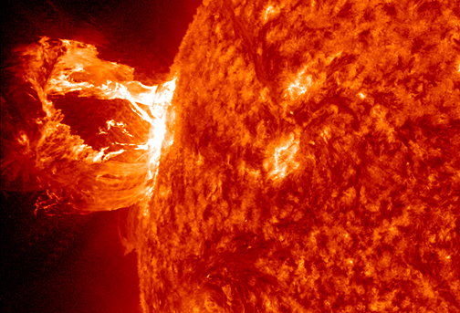 In this image, the Solar Dynamics Observatory (SDO) captured an X1.2 class solar flare, peaking on May 15, 2013. - Image Credit: NASA/SDO