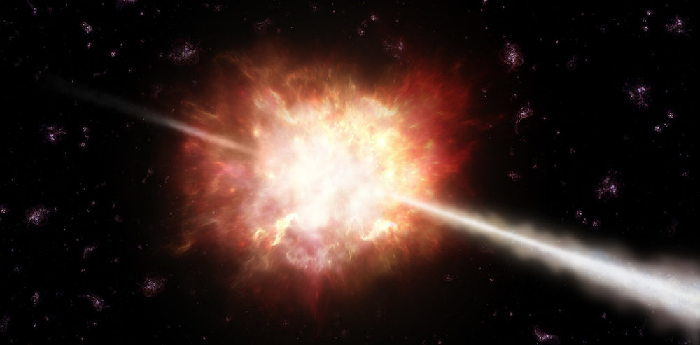 A gamma ray burst close to Earth could be devastating. ESO/A. Roquette, CC BY-SA