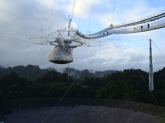 The Arecibo Observatory in Puerto Rico, where the Arecibo Legacy Fast ALFA Survey is conducted. - Image Credit: egg.astro.cornell.edu