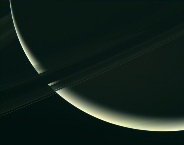 A close-up of Saturn and its rings. Assembled using raw uncalibrated RGB filtered images taken by the Cassini spacecraft on January 18 2017. – Image Credit: NASA/JPL-Caltech/SSI/image editing by Kevin M. Gill