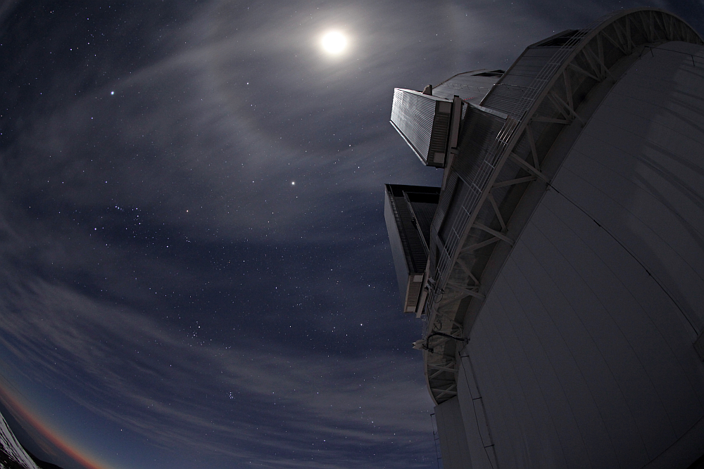 The Subaru Telescope atop Mauna Kea. CHARIS works in conjunction with Subaru. - Image Credit: Dr. Hideaki Fujiwara/NAOJ