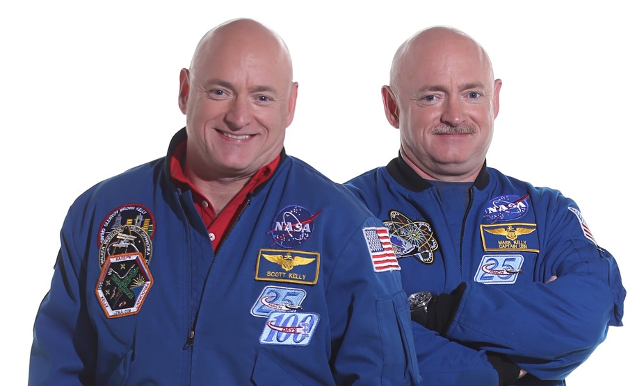 Separated at launch. Scott and Mark Kelly.  NASA