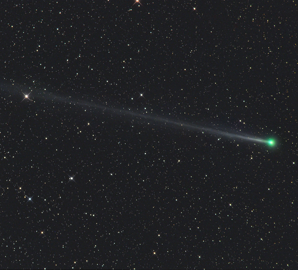 Comet 45P/Honda-Mrkos-Pajdušáková is captured using a telescope on December 22 from Farm Tivoli in Namibia, Africa. – Image Credit: Gerald Rhemann