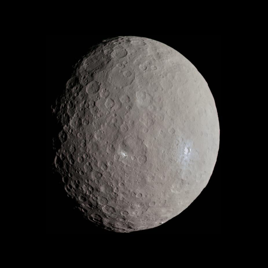 Ceres. - Image Credit: NASA / JPL-Caltech / UCLA / MPS / DLR / IDA / Justin Cowart, CC BY-SA