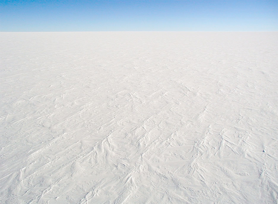 The Antarctic ice sheet - Image Credit: Stephen Hudson via Wikimedia Commons