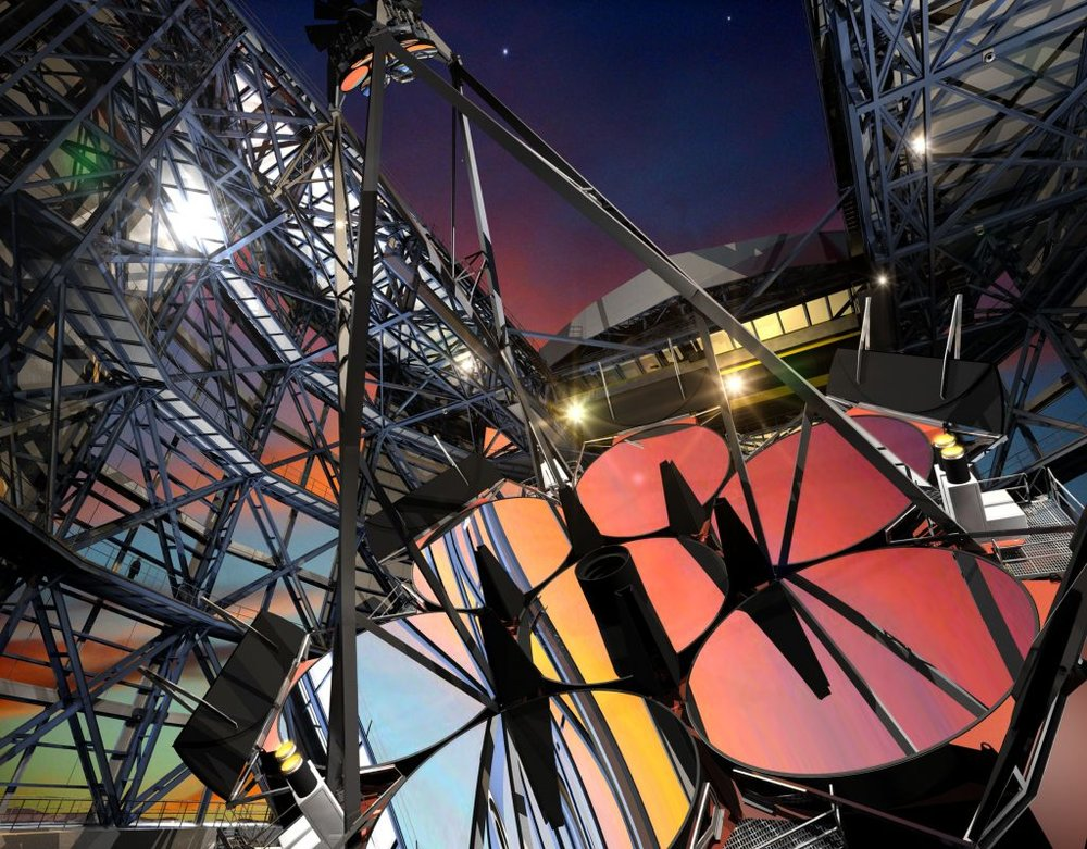 The heart of the Giant Magellan Telescope is the segmented primary mirror. Image: Giant Magellan Telescope - Image Credit: GMTO Corporation
