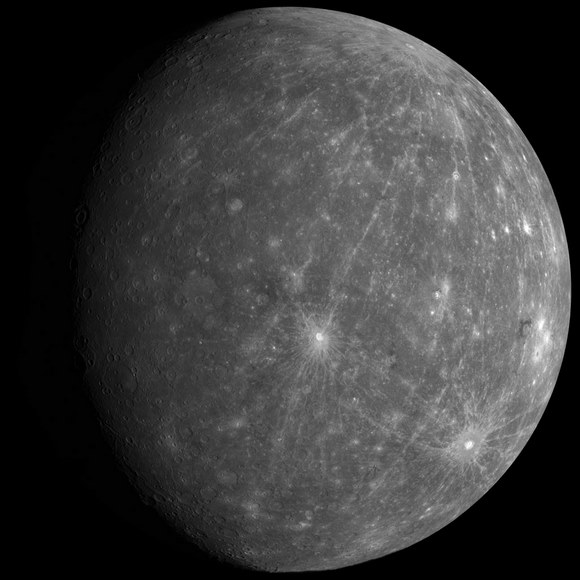 Mosaic of Mercury. - Image Credit: NASA / JHUAPL / CIW / mosaic by Jason Perry