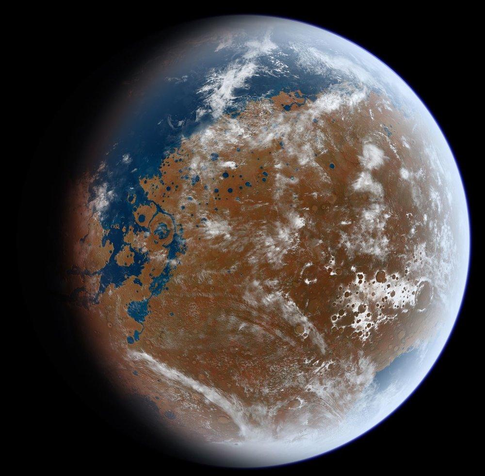Ancient Mars - Image Credit:  Ittiz/WikimediaCommons