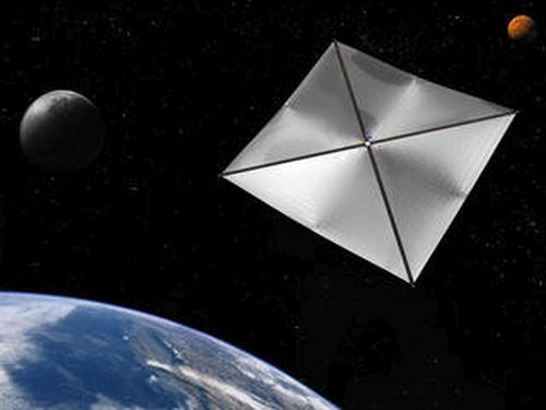 In 2010, NASA successfully deployed the nanosatellite NANO-Sail D from a larger, microsatellite. - Image Credit: NASA