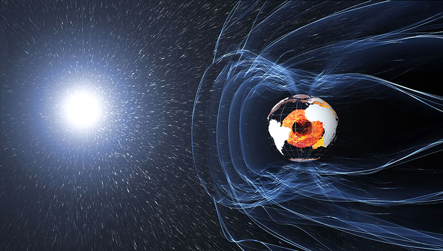 The magnetic field and electric currents in and around Earth generate complex forces that have immeasurable impact on every day life. - Image Credit: ESA/ATG medialab