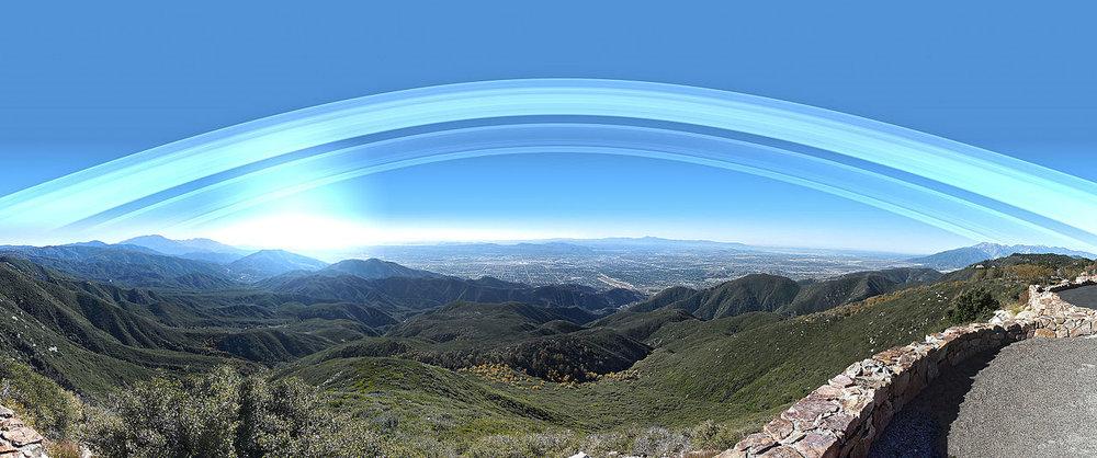 Earth's Rings over San Bernadino. Credit: Kevin Gill (CC BY-SA 2.0)