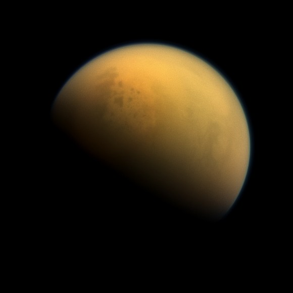 Titan image taken by Cassini on Oct. 7, 2013 - Image Credit: NASA/JPL-Caltech/Space Science Institute