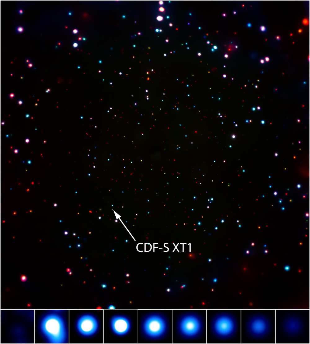 Still Image of CDF-S Transient. - Image Credits: X-ray: NASA/CXC/Pontifical Catholic University/F. Bauer et al.