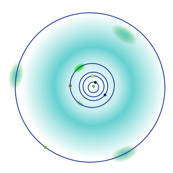 Diagram of Jupiter and the inner Solar System, showing the Jupiter and Martian Trojans (light green) and the Main Belt (teal). - Image Credit: Wikipedia Commons/AndrewBuck