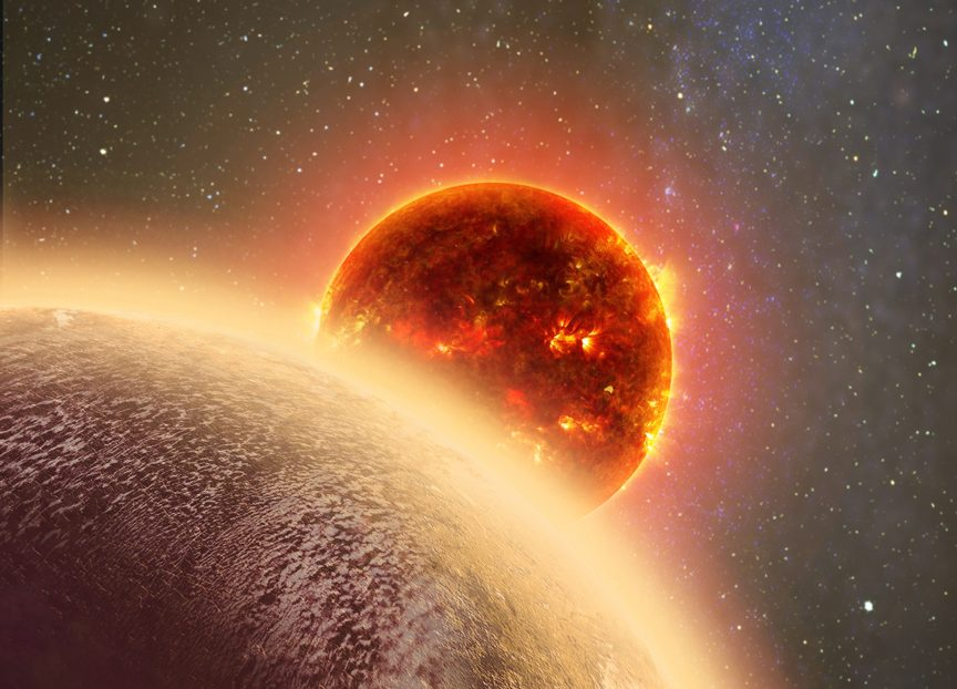 "Artist's impression of the ""Venus-like"" exoplanet GJ 1132b. - Image Credit: cfa.harvard.edu"