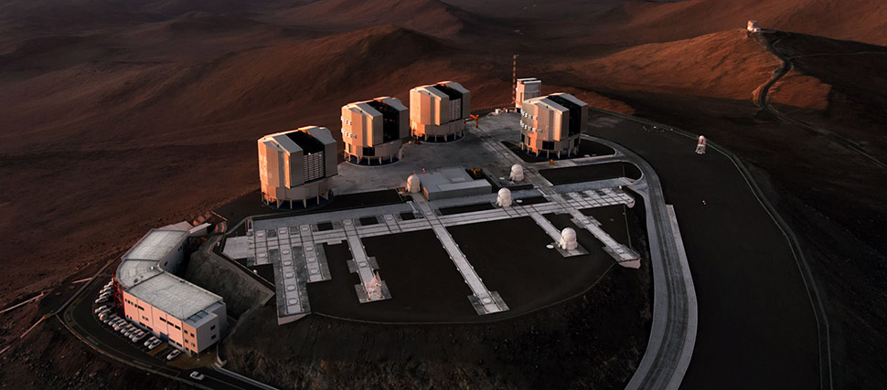The ESO's Paranal Observatory, located in the Atacama Desert of Chile. - Image Credit: ESO