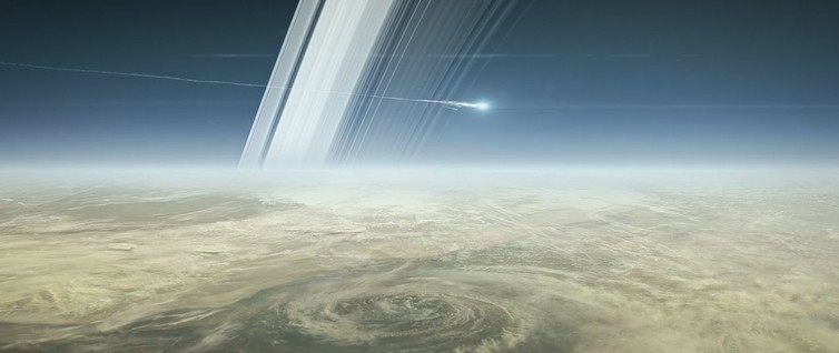 How Cassini will end, on September 15, 2017. - Image Credit: NASA/Jet Propulsion Laboratory-Caltech