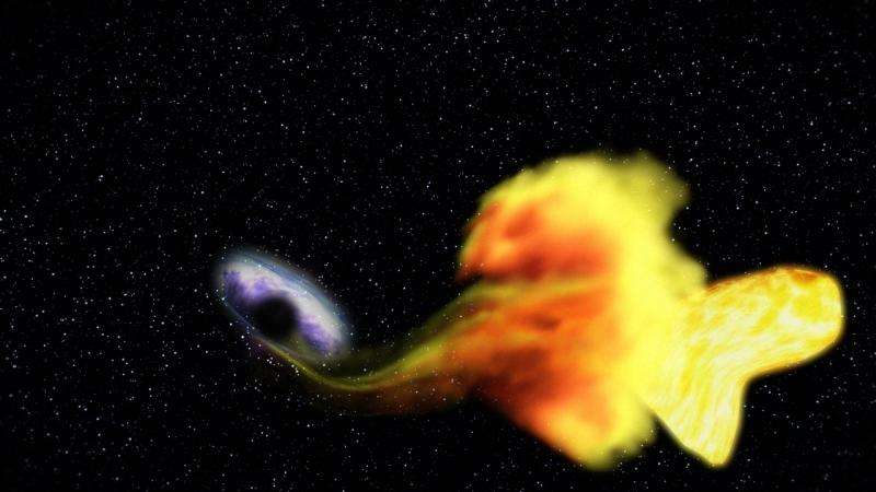 A black hole devouring a star. - Image Credit: NASA