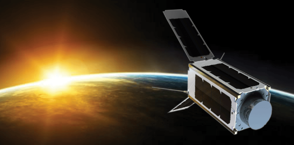 An artist's impression of the UNSW-EC0 cubesat in Earth's orbit. UNSW, Author provided