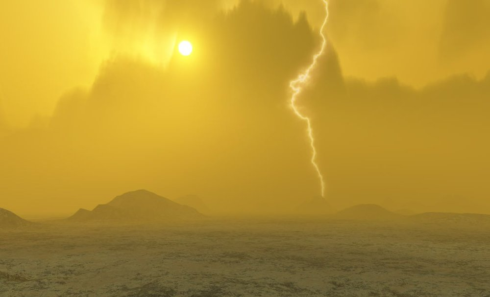 Artist concept of Venus' surface. - Image Credit: NASA