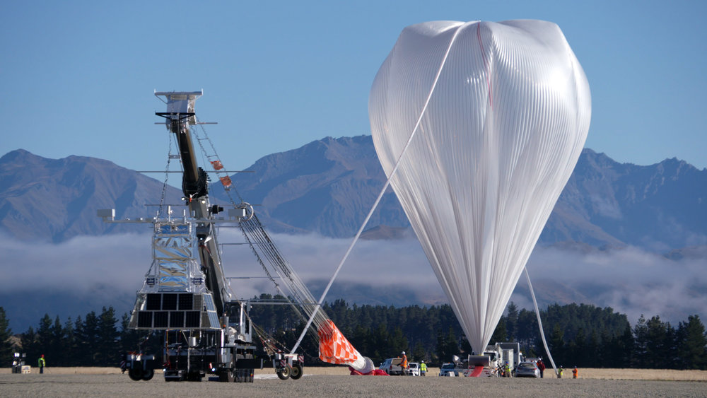 NASA's Super Pressure Balloon stands fully inflated and ready for lift-off from Wanaka Airport, New Zealand. The balloon took flight at 10:50 a.m. local time April 25 (6:50 p.m. April 24 in U.S. Eastern Time). - Image Credits: NASA/Bill Rodman