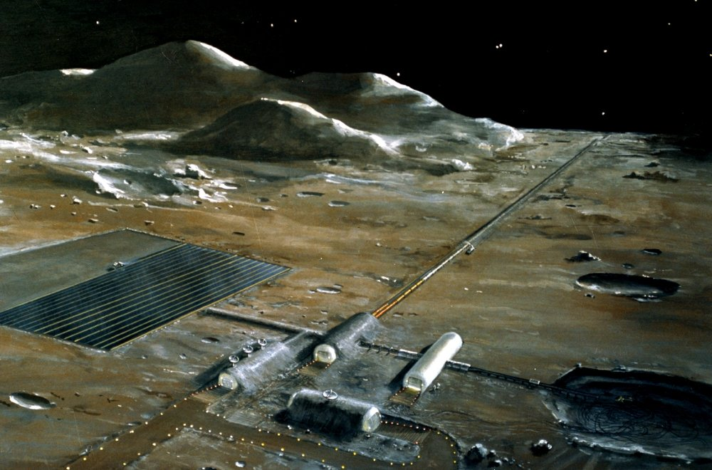 Lunar base concept drawing from NASA