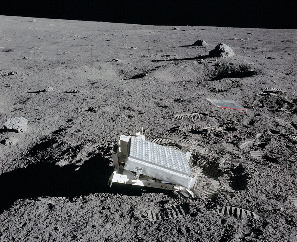The Lunar Laser Ranging Experiment placed on the Moon by the Apollo 14 astronauts. - Image Credit: NASA