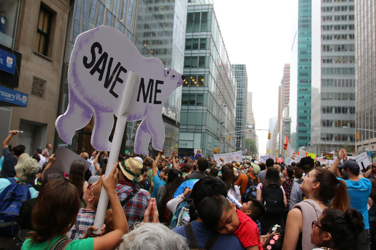 People's Climate March, New York, New York, Sept. 21, 2014. - Image Credit: CIFOR/Flickr, CC BY-NC-ND