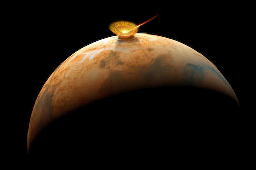 Asteroid impacts on Mars could have generated supersonic winds that shaped the surface, according to a new study. - Image Credit: geol.umd.edu