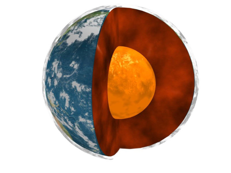 A NASA/university study of data on Earth's rotation, movements in Earth's molten core and global surface air temperatures has uncovered interesting correlations. Image credit: NASA/JPL-Université Paris Diderot - Institut de Physique du Globe de Paris