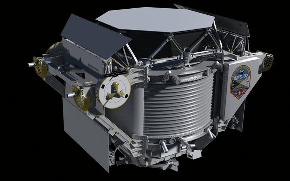 Artist's impression of the AMS-02 instrument. - Image Credit: NASA/JSC