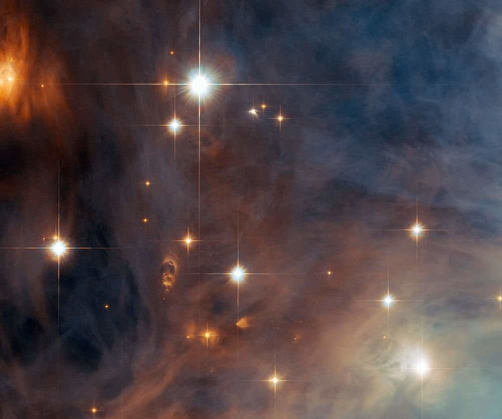Close-up view of the Orion Nebula's little brother, Messier 43, taken by NASA/ESA Hubble Space Telescope. - Image Credit: ESA/Hubble & NASA