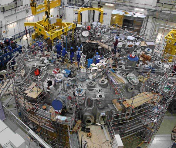 Karlsruhe Institute of Technology's Wendelstein 7-X (W7X) stellarator. - Image Credit: Max-Planck-Institut für Plasmaphysik, Tino Schulz (CC BY-SA 3.0)