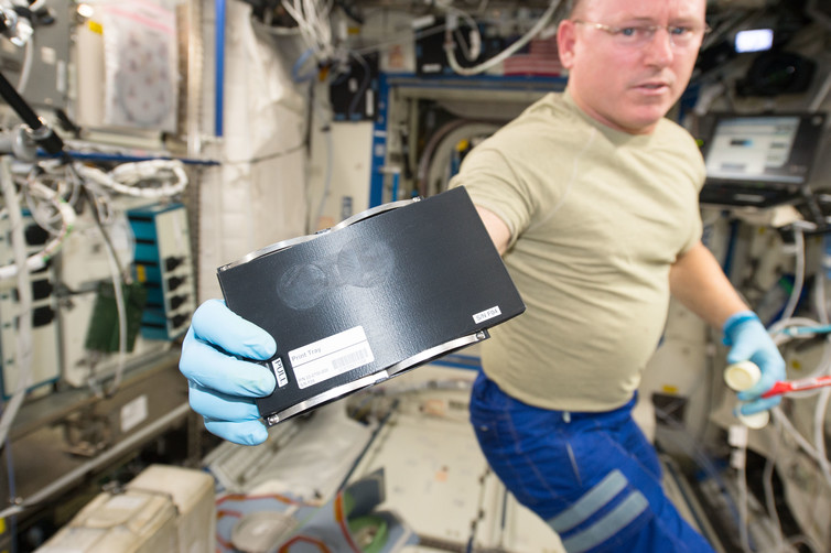 Astro printing. - Image Credit: Barry Wilmore/NASA