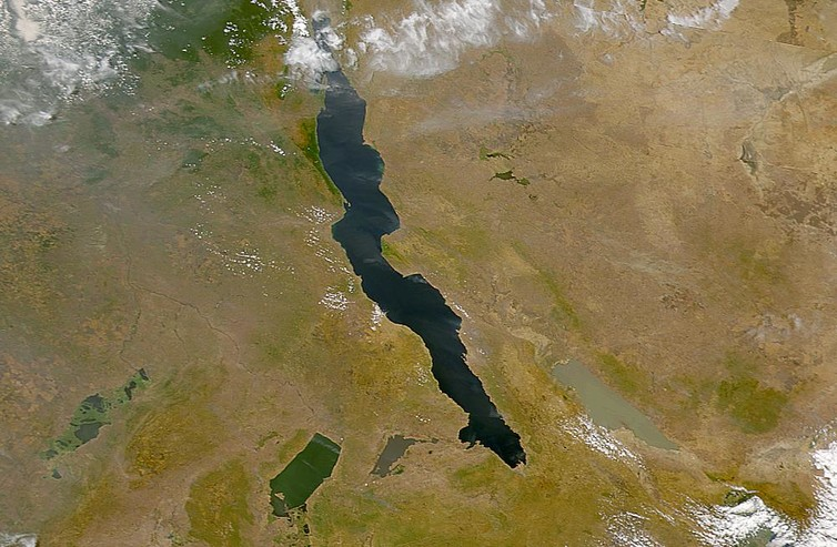 The lakes of the African Rift Valley. - Image Credit: SeaWiFS Project, NASA/Goddard Space Flight Center, and ORBIMAGE