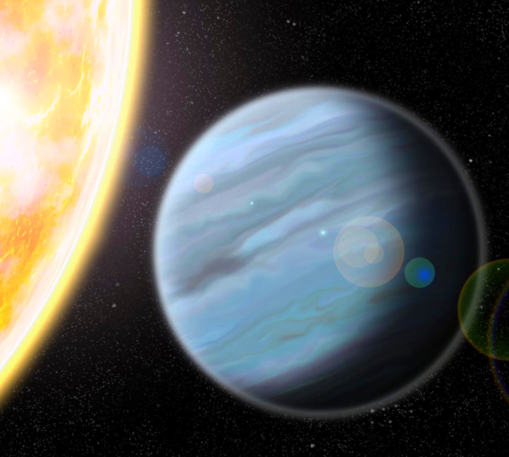 An artist's impression of the recently discovered 'Styrofoam planet' - Image credit: Walter Robinson, Lehigh University.