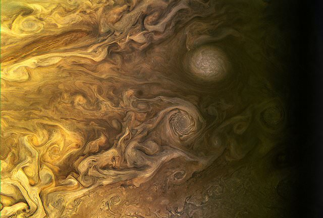 Jupiter as seen by the Juno spacecraft during the Perijove 5 pass on March 27, 2017. Processed using raw data. - Image Credit: NASA/JPL-Caltech/SwRI/MSSS/Kevin M. Gill.