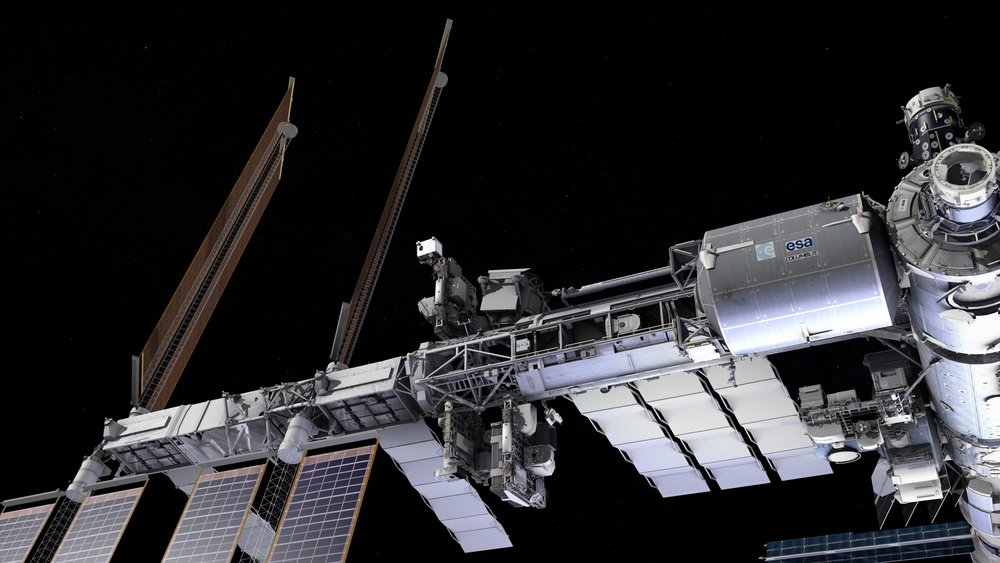 The NICER payload, shown here on the outside of the International Space Station. - Image Credit: NASA