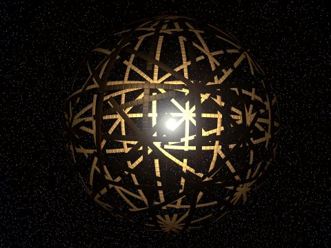Artist's concept of a Dyson sphere around a star. - Image Credit:  Kevin M. Gill/Flickr (CC BY-SA 2.0)