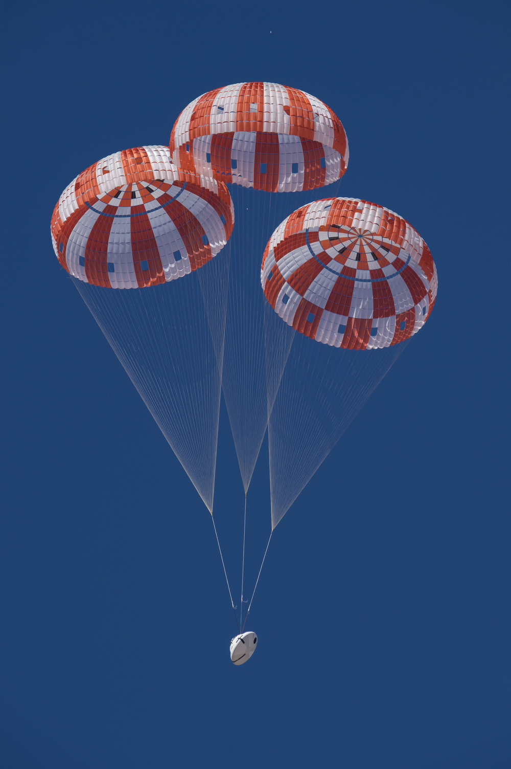 NASA is qualifying Orion's parachutes for missions with astronauts. - Image Credits: NASA (click to enlarge)