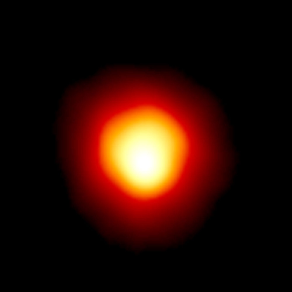 Still lumpy… Betelgeuse imaged by Hubble in 1996. - Image Credit: Hubble/ESA/STScI