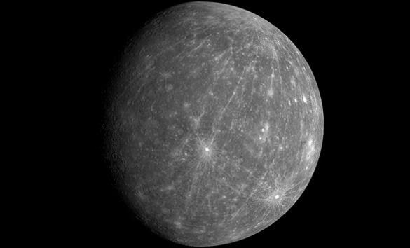 Mercury, as imaged by the MESSENGER spacecraft, revealing parts of the never seen by human eyes. - Image Credit: NASA/JHUAPL/Carnegie Institution of Washington
