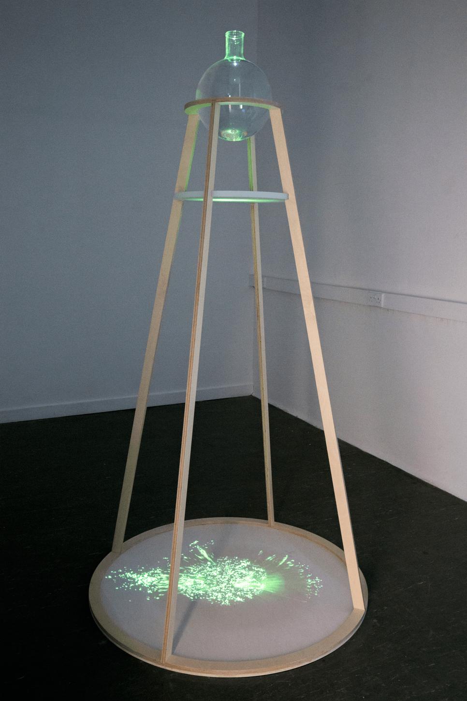 Sculptor Hannah Imlach's piece, Fluorescence Projector. - Image Credit: Hannah Imlach/Heriot-Watt, CC BY-SA