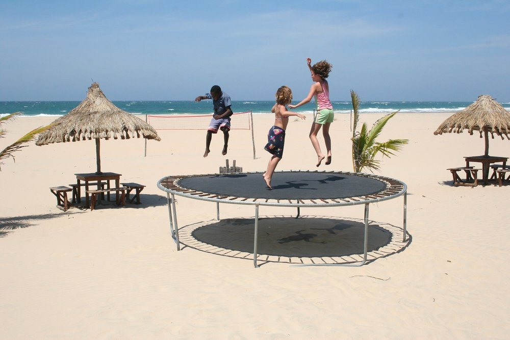 Trampolines: fun and educational. - Image Credit: cotrim/pixabay